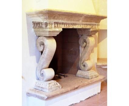 caminetto antichizzato