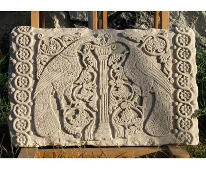copia di pluteo marmoreo in pietra della maiella