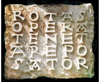 il quadrato magico,riproduzione del Sator o Rotas ,S.pietrao ad Oratorium